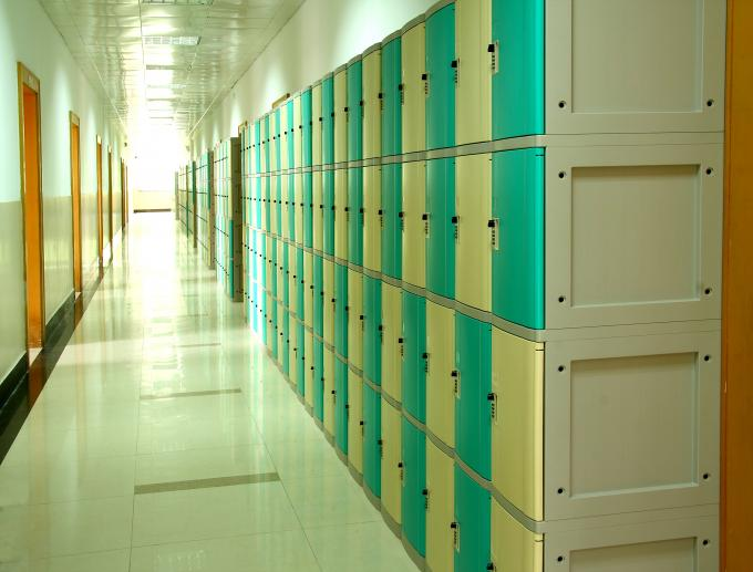 ABS School Lockers , School Storage Lockers Highly Water Resistant keyless lockset