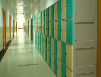 China Anti Corrosion Plastic School Lockers 4 Comparts 1 Column For Water Baths supplier