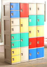 China Cell Phone Lockers With Chargers , 10 Tier Beige / Blue / Red Single Tier Lockers supplier