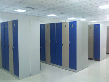China Single Tier Lockers PVC Material , Gray Cabinet Commercial Gym Lockers supplier