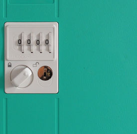 China 5 Comparts 1 Column Plastic Gym Lockers Anti - Theft With 4 Digit Lock supplier