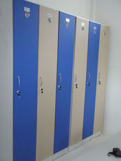 China 1 Tier Beige Blue Employee Storage Lockers Strong / Durable For Hospitals supplier
