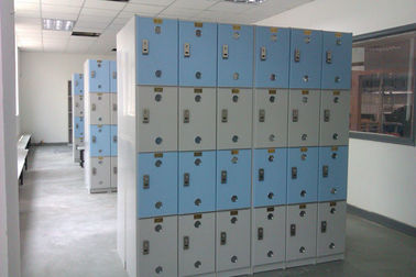 China Color Door 4 Tier Lockers With Software , PVC Material Swimming Pool Lockers supplier