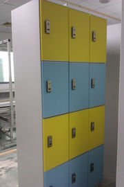 China Hospitals Employee Storage Lockers 12 Comparts 3 Column PVC Material supplier