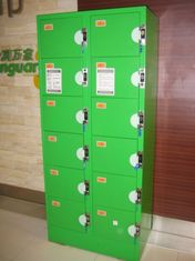 China Corrosion Proof Red Storage Lockers , Anti UV Aging Ventilation 8 Tier Lockers supplier