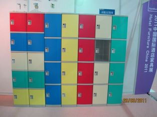 China Strong Plastic Gym Lockers 8 Comparts 1 Column Swimming Pool Lockers supplier