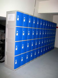 China 8 Tier Blue ABS Plastic Lockers Swimming Pool Lockers With Combination Lock supplier
