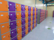 China ABS / Metal Coin Operated Lockers Anti UV Aging Commercial Gym Lockers factory