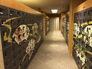 China Graffiti Proof Office Storage Lockers , Four Tier Lockers With Printing Door factory