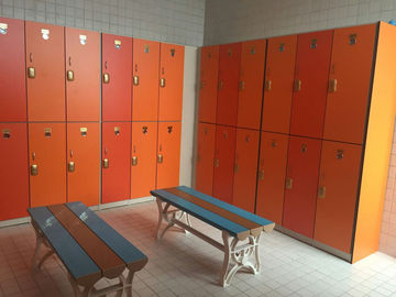 China Strong / Durable Red Changing Room Lockers PVC Material With Cam Lock factory