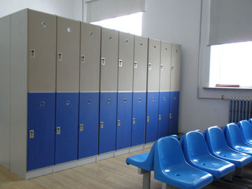China Lightweight Double Tier Lockers , Blue Door Staff Room Lockers For Hospitals factory
