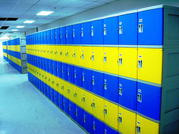 Red School Lockers With Keyless Lock , Factory price plastic employee ABS lockers