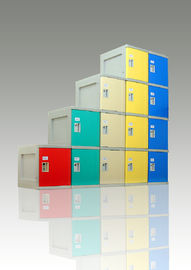 ABS Plastic Gym Lockers Beautiful Appearance For Sports Ground With keyless lock