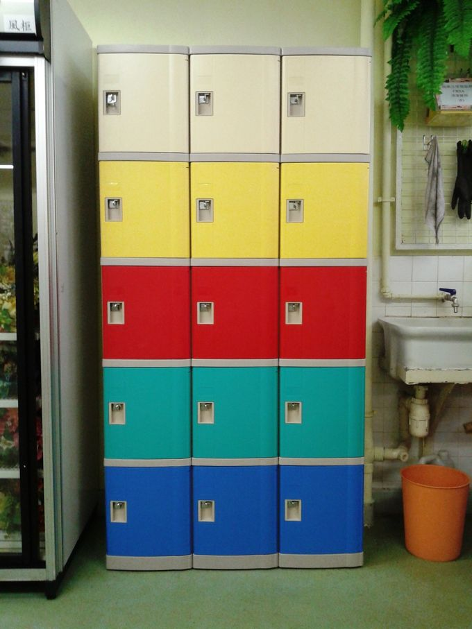 1910 × 380 × 500 High School Lockers ,ABS Material 4 Tier Lockers For Home