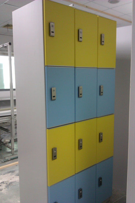 Hospitals Employee Storage Lockers 12 Comparts 3 Column PVC Material