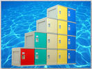 Highly Water Resistant Green School Lockers , 5 Tier Lockers With Combination Lock